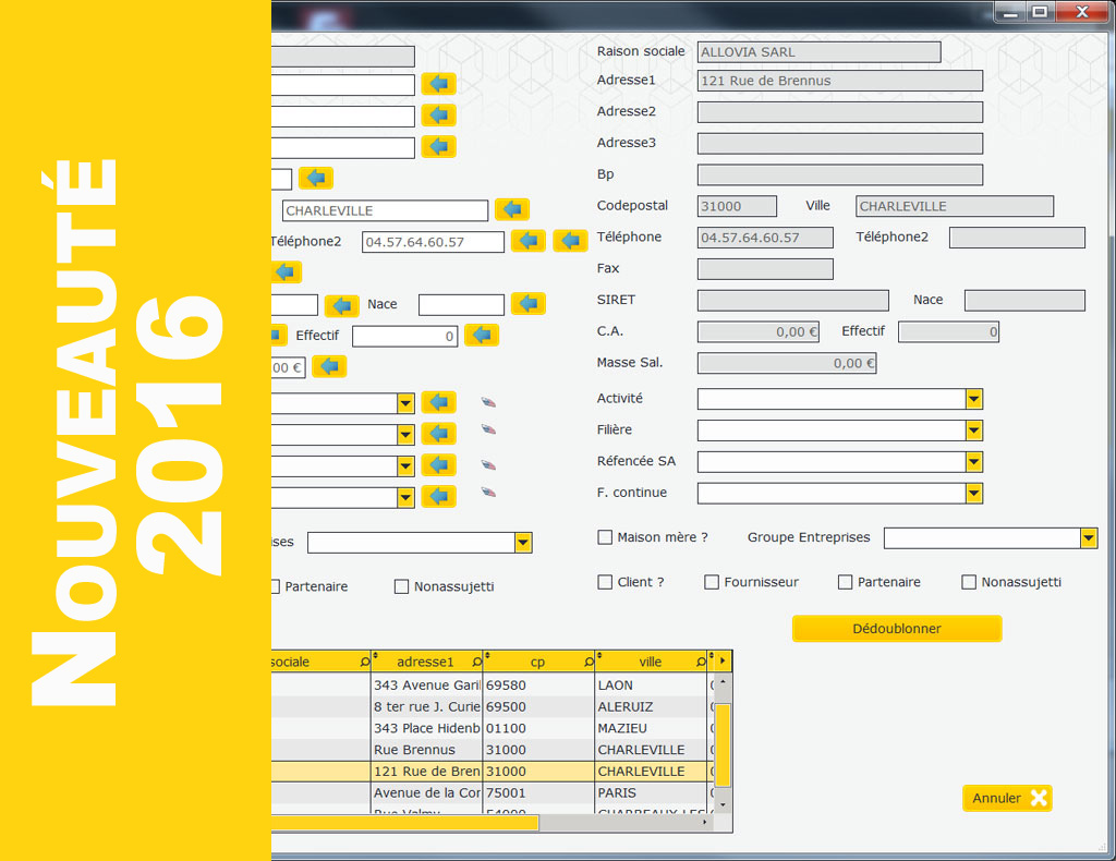 Kol-Taxe logiciel de taxe d'apprentiisage : dédoublonnage d'entreprises